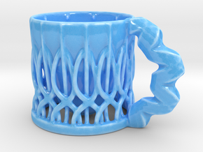 Wiredcup in Gloss Blue Porcelain