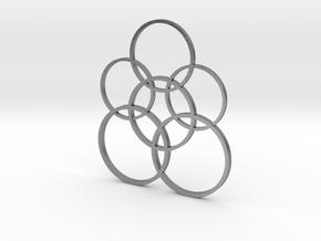 Stylish circulars pendant  in Natural Silver: 1:10