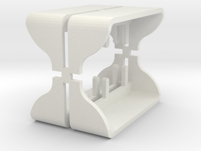 Type1steps in White Natural Versatile Plastic