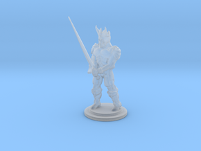 The Dead King Mini 28mm in Smooth Fine Detail Plastic