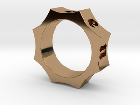 Octagon Ensemble Ring in Polished Brass: 8 / 56.75