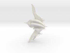 Minbari Sharlin (Babylon 5), 1/10,000 in White Natural Versatile Plastic