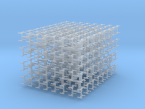 Space-Filling Binary Tree in Smooth Fine Detail Plastic