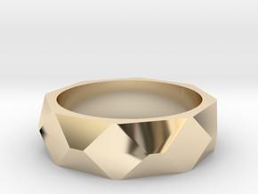 Geometric Ring in 14K Yellow Gold: 5 / 49