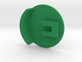 The Plunger Pusher in Green Processed Versatile Plastic