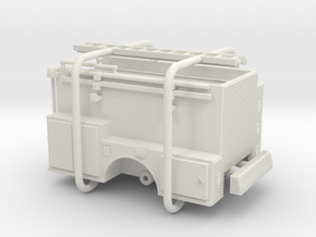 1/64 ALF Pipeline Body Compartment Doors in White Natural Versatile Plastic