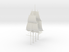 1/300 Frigate Mast Set V1 in White Natural Versatile Plastic