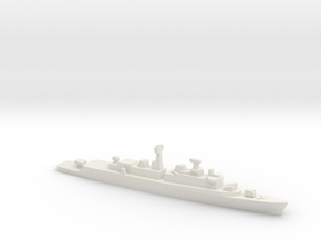 County Class Destroyer w/ exocet, 1/1800 in White Natural Versatile Plastic