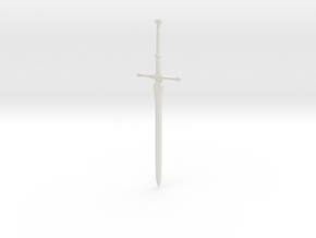 """BotW"" Soldier's Claymore in White Natural Versatile Plastic: 1:12"