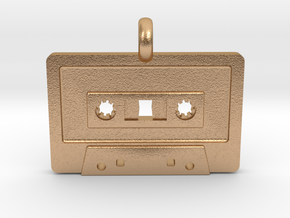 Cassette Tape Pendant in Natural Bronze