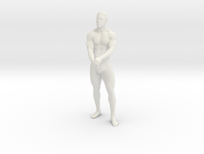 Strong male body 001 scale in 10cm in White Natural Versatile Plastic: Medium