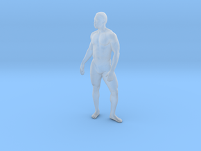 Strong male body 005 scale in 10cm in Smoothest Fine Detail Plastic: Extra Small