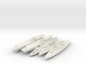 Full Set Of British Navy 1/3000 in White Strong & Flexible