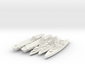 Full Set Of British Navy 1/3000 in White Natural Versatile Plastic