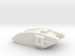 1:144 Mk1 Tank  in White Natural Versatile Plastic
