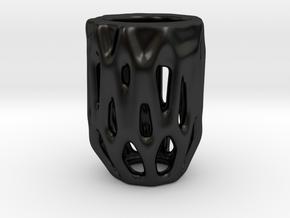 CandleHolder R in Matte Black Porcelain
