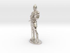 Human Fighter Miniature in Platinum: 1:55