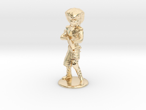Serpent Guard Attack Pose - 20mm in 14K Yellow Gold