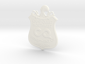 CQNW Badge in White Strong & Flexible Polished