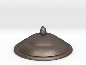 1/10 (Flatline) Scale Capaldi NH TARDIS Top Cap in Polished Bronzed Silver Steel