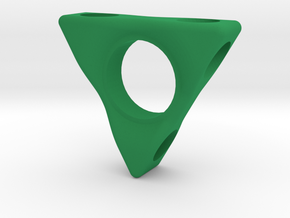 Laser Spinner 2.0  in Green Processed Versatile Plastic