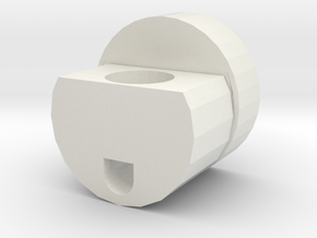 28mm Speaker Holder with Recharge Port in White Natural Versatile Plastic