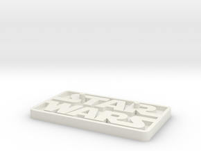 "Star Wars Black Series 6"" figure base (larger peg) in White Natural Versatile Plastic"