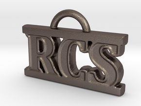 RCS Keychain in Polished Bronzed Silver Steel