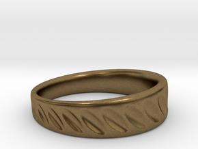 Ring Diagonal Scallops in Natural Bronze