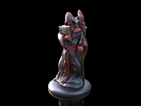 Arcane Wizard miniature in Frosted Ultra Detail