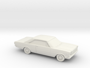 1/87 1966 Ford Galaxie 500 Coupe in White Natural Versatile Plastic
