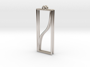 Tangent Function Earrings in Rhodium Plated Brass