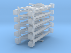 N Pipe Rack Support 28mm 10pc FUD/WSF in Smooth Fine Detail Plastic