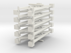 N Pipe Rack Support 28mm 10pc FUD/WSF in White Natural Versatile Plastic
