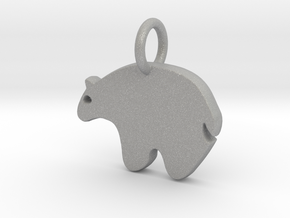 Bear Charm in Aluminum