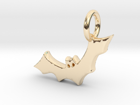 Bat Charm in 14k Gold Plated Brass