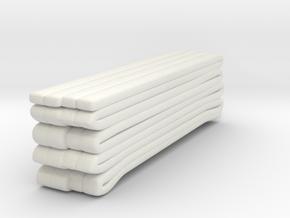 1/87 Seagrave Squrt Hose Load 3 in White Natural Versatile Plastic