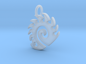 Zerg Charm in Smooth Fine Detail Plastic