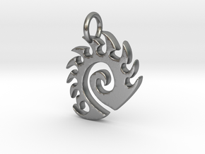 Zerg Charm in Natural Silver