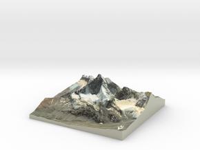 "Matterhorn / Monte Cervino Map: 6"" (15.2 cm) in Coated Full Color Sandstone"