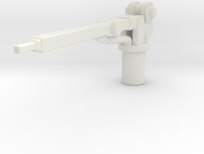 1/87 Small Crane in White Natural Versatile Plastic