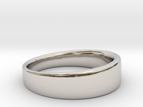 Ring Clean in Rhodium Plated Brass: 8.75 / 58.375