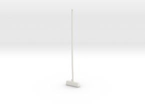"""BotW"" Wooden Mop (No Mop Head) in White Natural Versatile Plastic: 1:12"