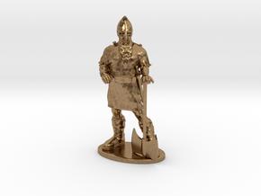 Dwarf Fighter Miniature in Natural Brass: 1:55