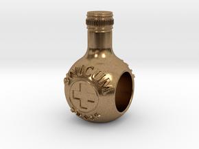 unicum bottle charm in Natural Brass