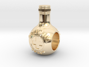 unicum bottle charm in 14k Gold Plated Brass