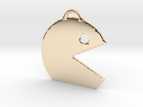 PAC man  in 14k Gold Plated: Medium