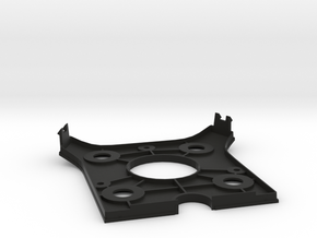 Bottom Plate in Black Natural Versatile Plastic