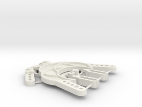 TC02C EVO ALLOY CHASSIS HARDWARES LITE 300417 in White Strong & Flexible