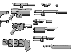 1:6 Scale Imperial Sci-Fi Rifle Variants Kit in White Strong & Flexible